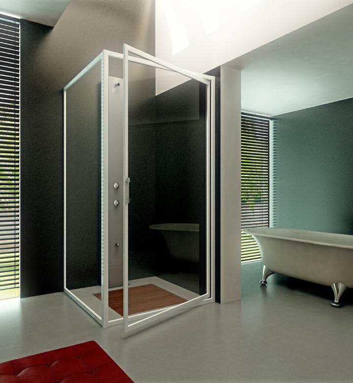 Iosna accesorios de aluminio y pvc mampara practicable for Accesorios mampara ducha