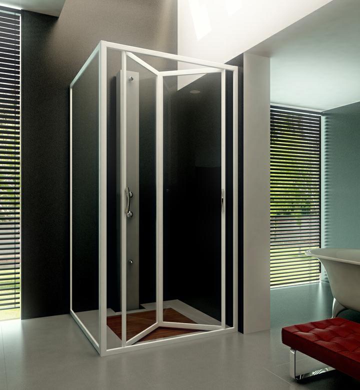 Accesorios de aluminio y pvc mampara plegable de ducha - Modelos de mamparas de ducha ...