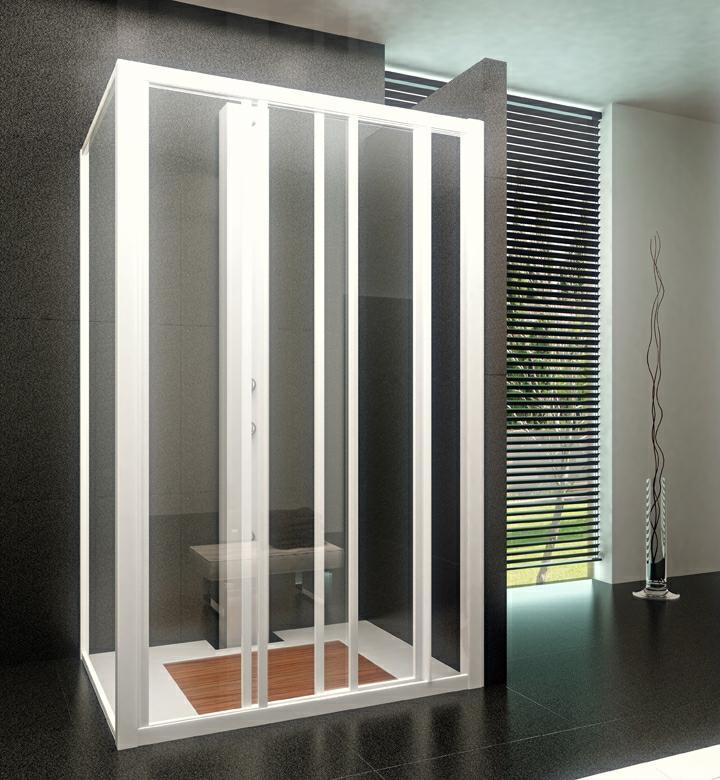 Iosna accesorios de aluminio y pvc mampara corredera de for Accesorios mampara ducha
